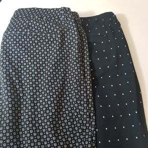 Bundle Old Navy Mid Rise Pixie Pants Size 12Tall